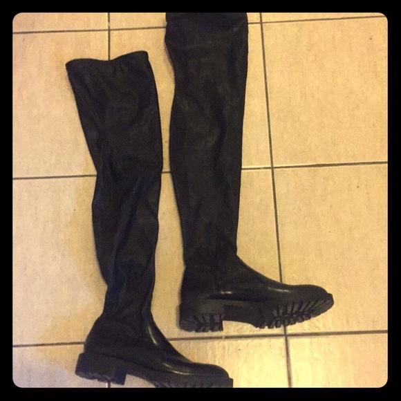 Leather Combat Boots Zara Eu